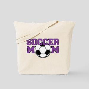 SOCCER Mom in Purple Tote Bag