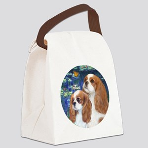 J-ORN-Lilies5-Cavaliers-2BL Canvas Lunch Bag