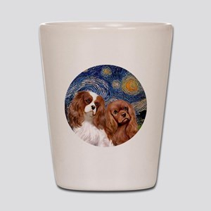 J-ORN-Starry-Two Cavaliers-BL+R Shot Glass