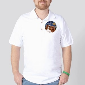 J-ORN-Starry-Two Cavaliers-BL+R Golf Shirt