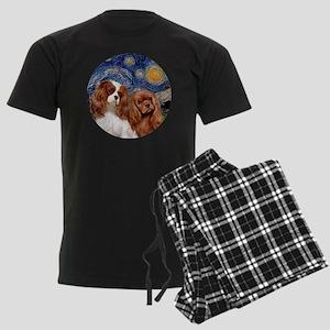 J-ORN-Starry-Two Cavaliers-BL+ Men's Dark Pajamas