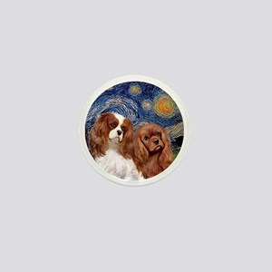 J-ORN-Starry-Two Cavaliers-BL+R Mini Button