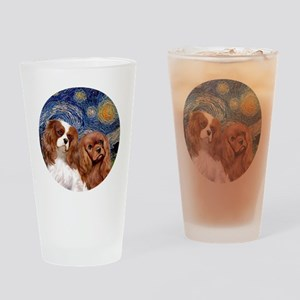 J-ORN-Starry-Two Cavaliers-BL+R Drinking Glass