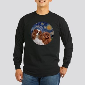 J-ORN-Starry-Two Cavalier Long Sleeve Dark T-Shirt
