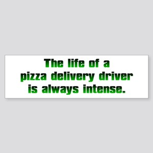 Pizza Driver Bumper Sticker