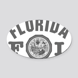 Florida Seal W Oval Car Magnet