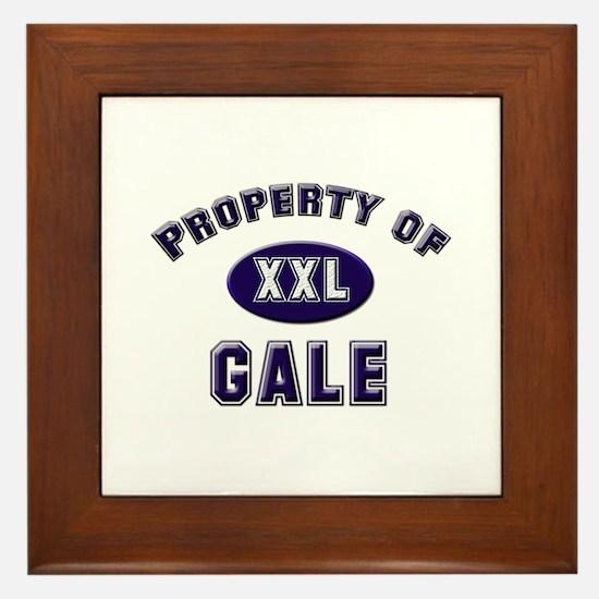 Property of gale Framed Tile