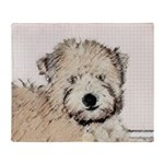 Wheaten Terrier Puppy Throw Blanket