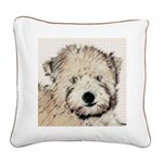 Wheaten Terrier Puppy Square Canvas Pillow