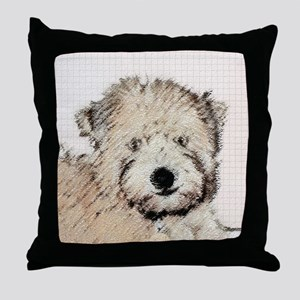 Wheaten Terrier Puppy Throw Pillow