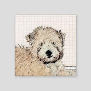 """Wheaten Terrier Puppy Square Sticker 3"""" x 3"""""""