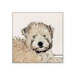 Wheaten Terrier Puppy Square Sticker 3
