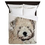 Wheaten Terrier Puppy Queen Duvet
