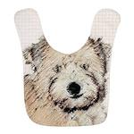 Wheaten Terrier Puppy Polyester Baby Bib