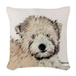 Wheaten Terrier Puppy Woven Throw Pillow