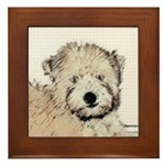 Wheaten Terrier Puppy Framed Tile