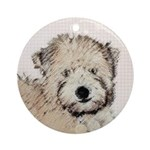 Wheaten Terrier Puppy Round Ornament