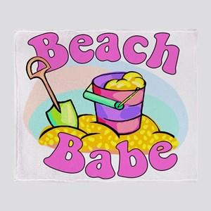 Beach Babe Throw Blanket