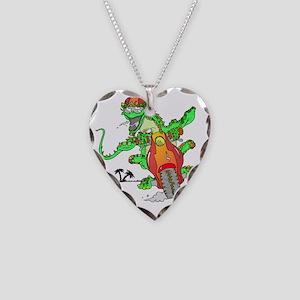 lizard Necklace Heart Charm