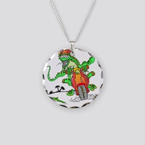 lizard Necklace Circle Charm
