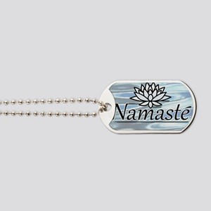 NamasteLotusFocal-waterBG-cropped Dog Tags