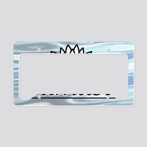 NamasteLotusFocal-waterBG-low License Plate Holder