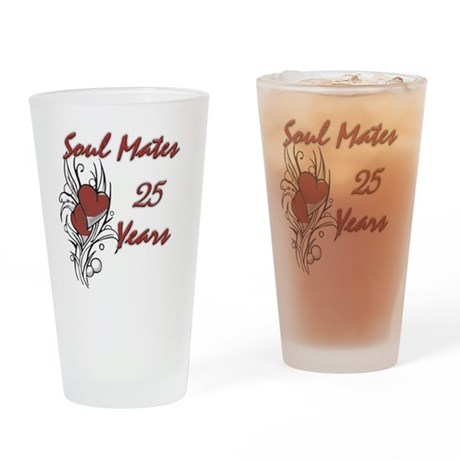 SOUL MATES Red 25 Drinking Glass
