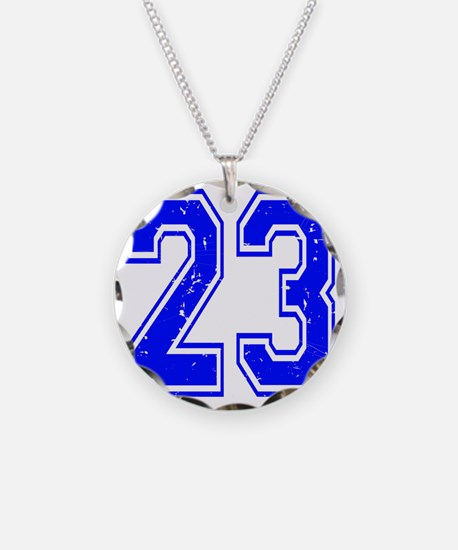 23 Blue Distressed Necklace