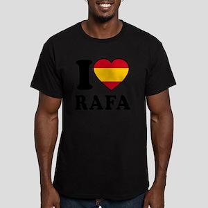 Rafa Flag Men's Fitted T-Shirt (dark)