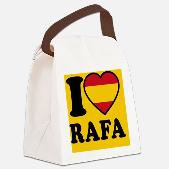 Rafa Flag Btn2 Canvas Lunch Bag