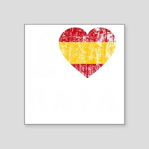 """Rafa Faded Flag -dk Square Sticker 3"""" x 3"""""""