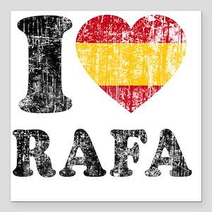 """Rafa Faded Flag Square Car Magnet 3"""" x 3"""""""