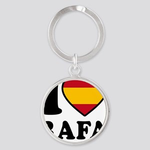 Rafa Flag Btn1 Round Keychain