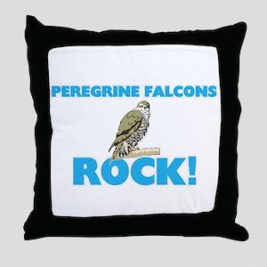 Peregrine Falcons rock! Throw Pillow