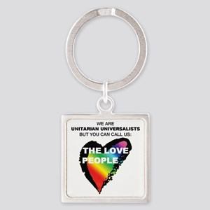LOVE PEOPLE Square Keychain