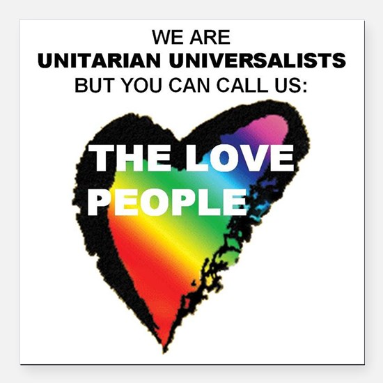 """LOVE PEOPLE Square Car Magnet 3"""" x 3"""""""