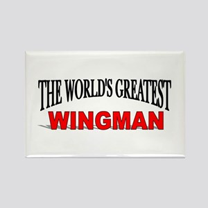 """""""The World's Greatest Wingman"""" Rectangle Magnet"""