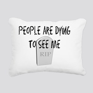 Funeral Director dying t Rectangular Canvas Pillow