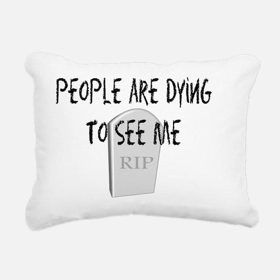 Funeral Director dying t Rectangular Canvas Pillow