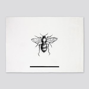 Bee Sketch 5'x7'Area Rug