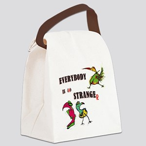 everybody is stranger_against rac Canvas Lunch Bag
