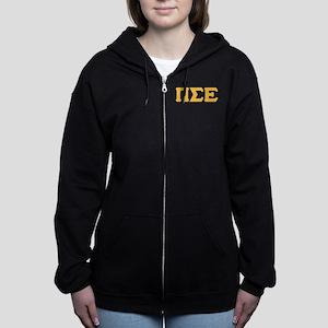 Pi Sigma Epsilon Letters Women's Zip Hoodie