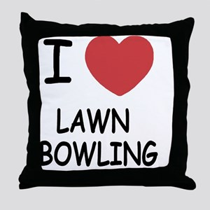 LAWN_BOWLING Throw Pillow