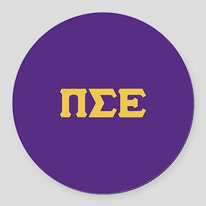 Pi Sigma Epsilon Letters Round Car Magnet