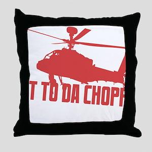 CHOPPA1 Throw Pillow