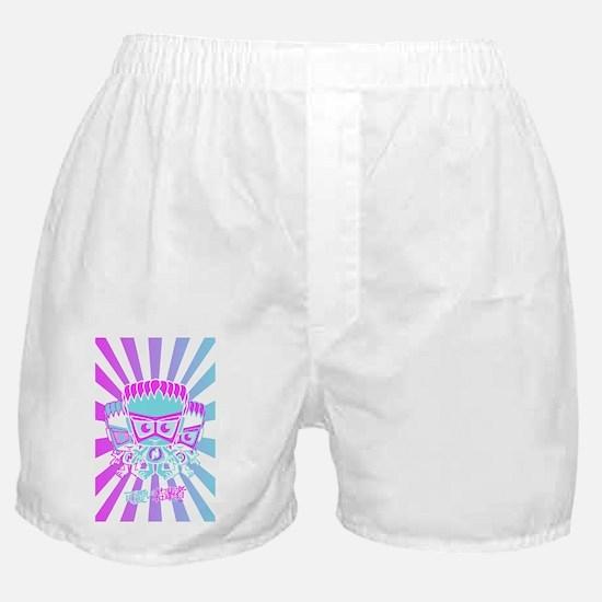 NewWavePostcardStencil Boxer Shorts