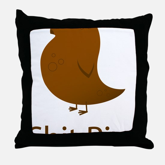 ShitBird Throw Pillow