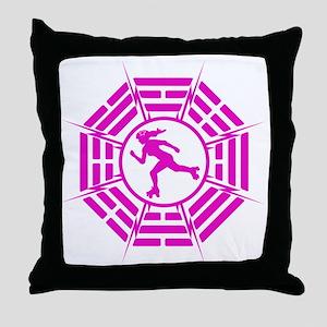DHARMA_DERBY_GIRL r Throw Pillow