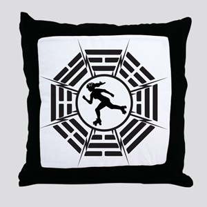 DHARMA_DERBY_GIRL Throw Pillow
