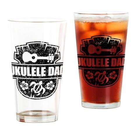 Ukulele Dad Drinking Glass